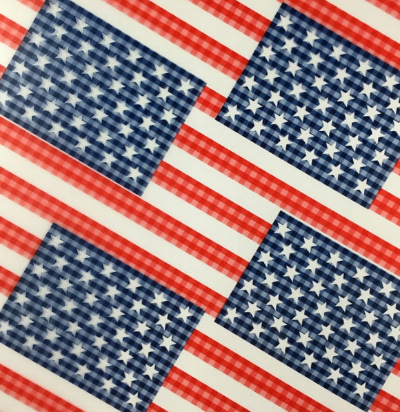 Large Semi Transparent American Flags