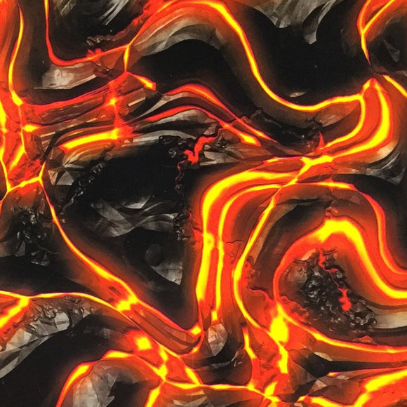 Flaming Molten Lava Rocks