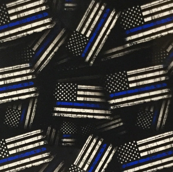 POLICE Thin Blue Line American Tactical Flags