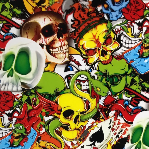 Colored Crazy Skulls