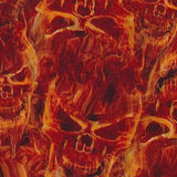 Red Flaming Skulls