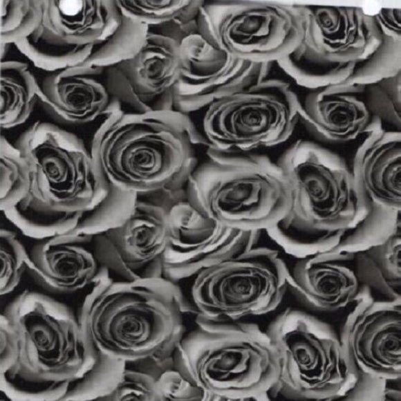 Roses Black & Clear