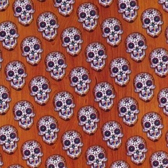 Woodgrain Sugar Skulls