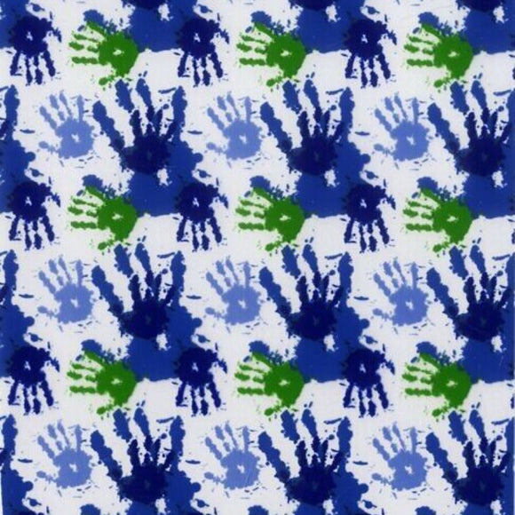Blue/Green Handprints