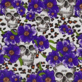 Purple Flower Cheetah Skulls