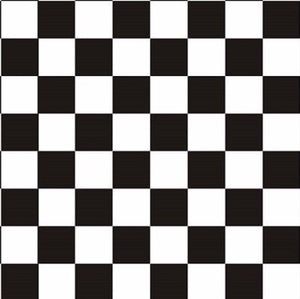 Black & Clear Checker Board