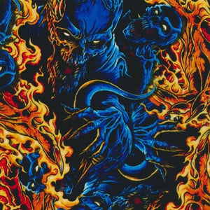 Flaming Blue Demons