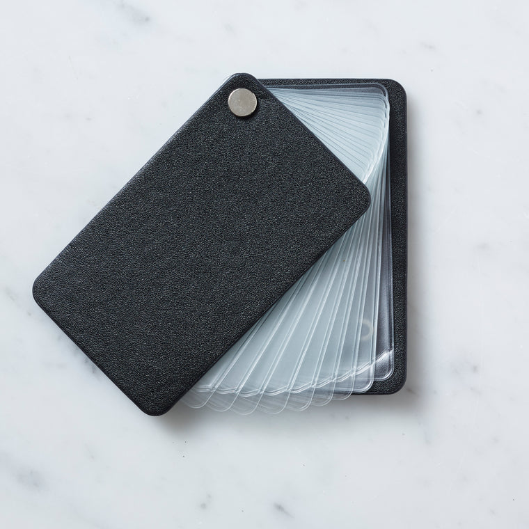 Card organizer tap and go black