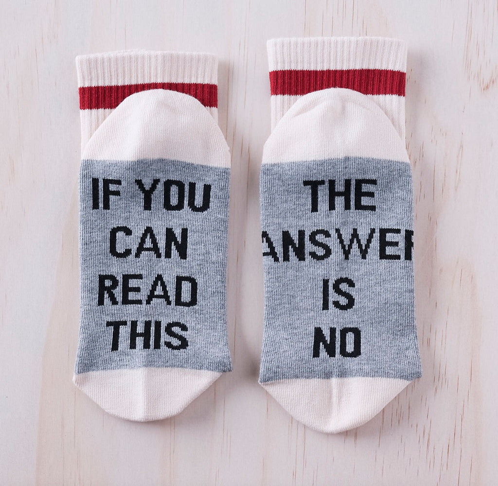 The answer is no socks.
