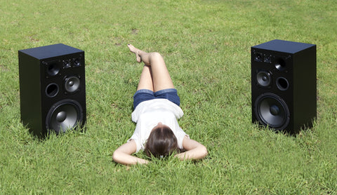 Where and when are outdoor speakers used?