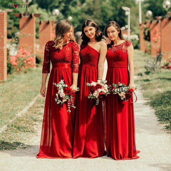 Burgundy Bridesmaid Dresses Collections