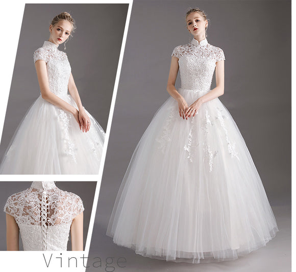 French Vintage Bridal Gown for 2019 Wedding
