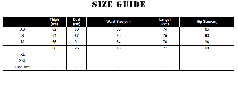 NZ BRIDAL SIZE CHART