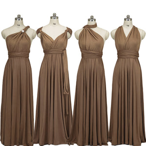[Final Salel]Brown Endless Ways Convertible Beach Wedding Bridesmaid Dresses