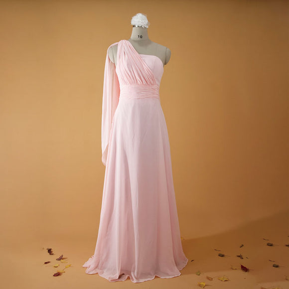 Light Pink Multi Ways Convertible Chiffon Bridesmaid Dresses