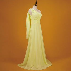 Yellow Convertible Sweetheart Chiffon Multi Ways Bridesmaid Dresses