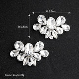 NZ Bridal 1 Pair Luxury Rhinestone Detachable Shoe Clip Wedding Shoes Buckle Accessoriesa