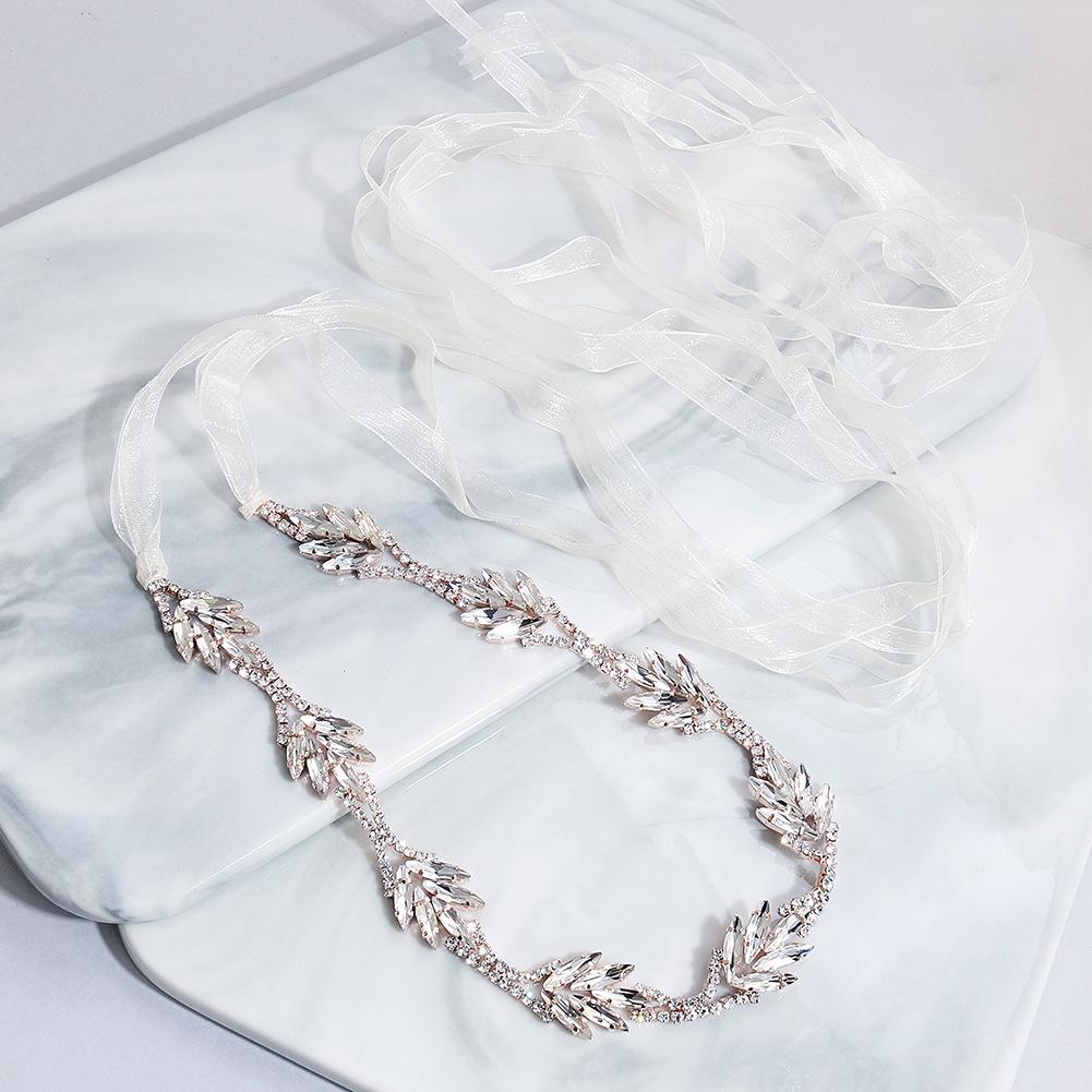 NZ Bridal Elegant Jewelry Chain Alloy Rhinestone Waist Chain Wedding Dress Accessories