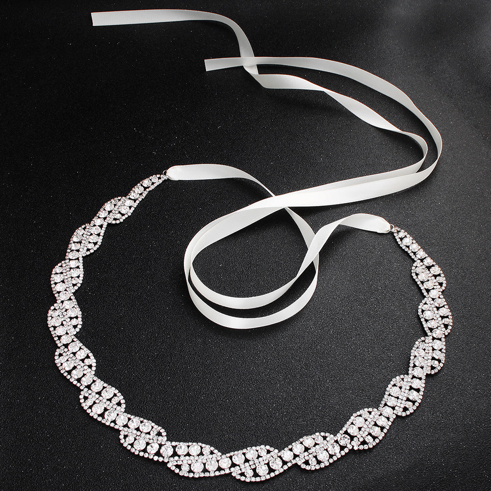 NZ Bridal Handmade Sashes Rhinestone Waist Chain Wedding Dress Body Chain Bridal Accessories