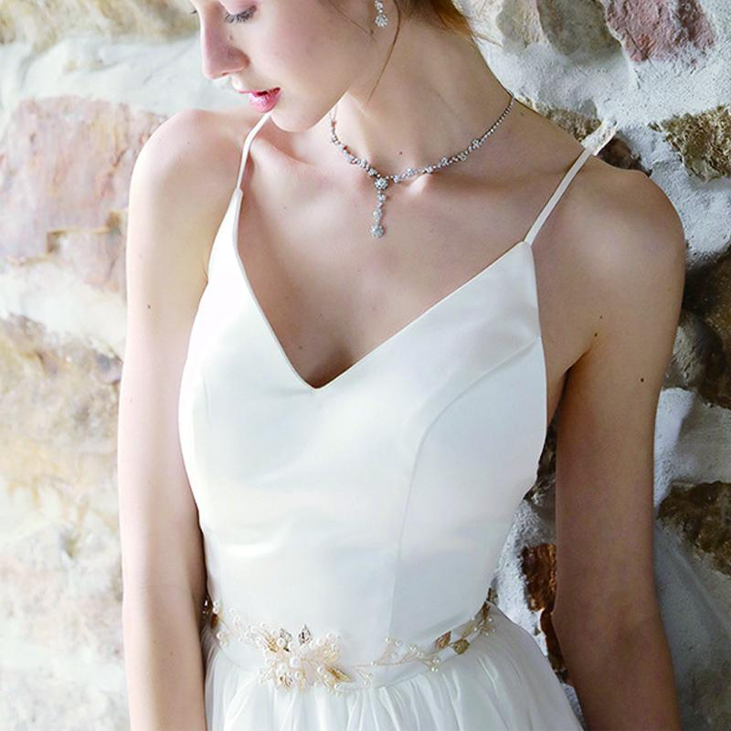 NZ Bridal Hand-studded Sashes Bridal Imitation Pearl Waist Chain Wedding Dress Jewelry