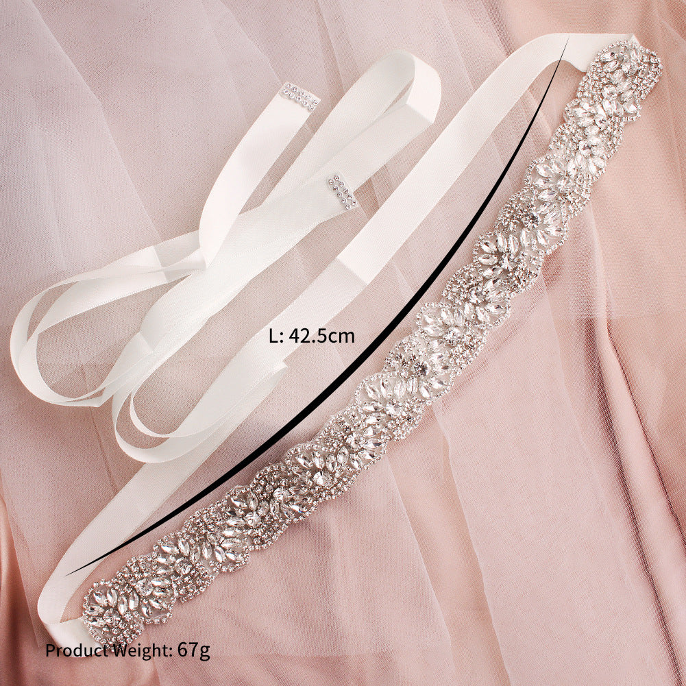 Luxurious Hand-studded Rhinestons Sashes Wedding Jewelry