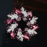 NZ Bridal Bauhinia Crystal Wedding Dresses Brooch Cardigan Pin Ornament Jewelry Rhinestones Pin