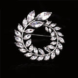 NZ Bridal Olive Branch Alloy Brooch With Zirconite Wedding Brooch Pin Jewelry Accessorise