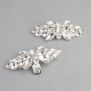 NZ Bridal 1 Pair Rhinestone DIY Shoe Clip Charms Hand-studded Wedding High Heels Buckle Accessories