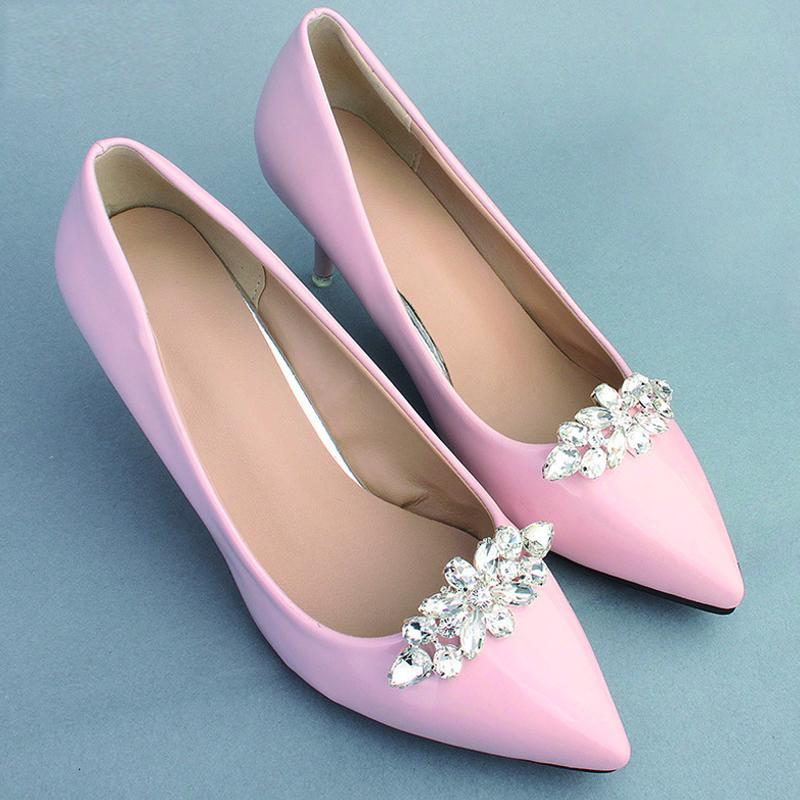 NZ Bridal 1 Pair Wedding Shoe Clip Hand-studded Rhinestone Shoes Buckle Accessories
