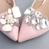 1 Pair Detachable Shoe Clip Rhinestone Wedding Shoes Buckle