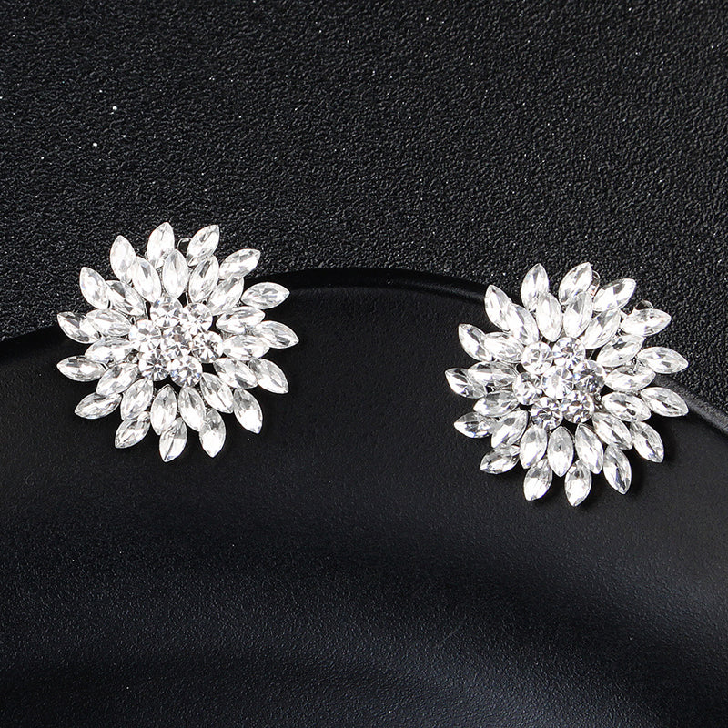 1 Pair Detachable Shoe Clip Round Rhinestone Wedding Shoes Buckle Accessories