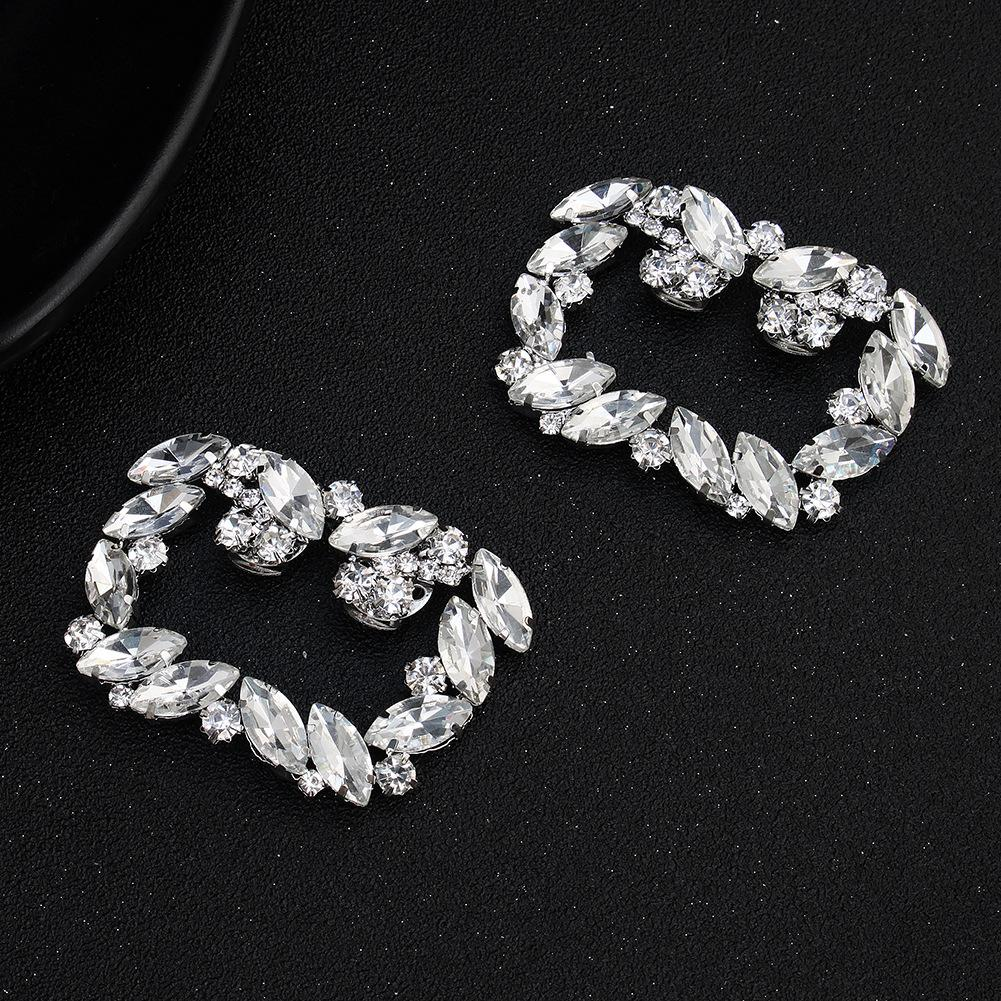 NZ Bridal 1 Pair Rectangle Detachable Shoe Clip Rhinestone DIY Wedding Shoes Buckle Accessories