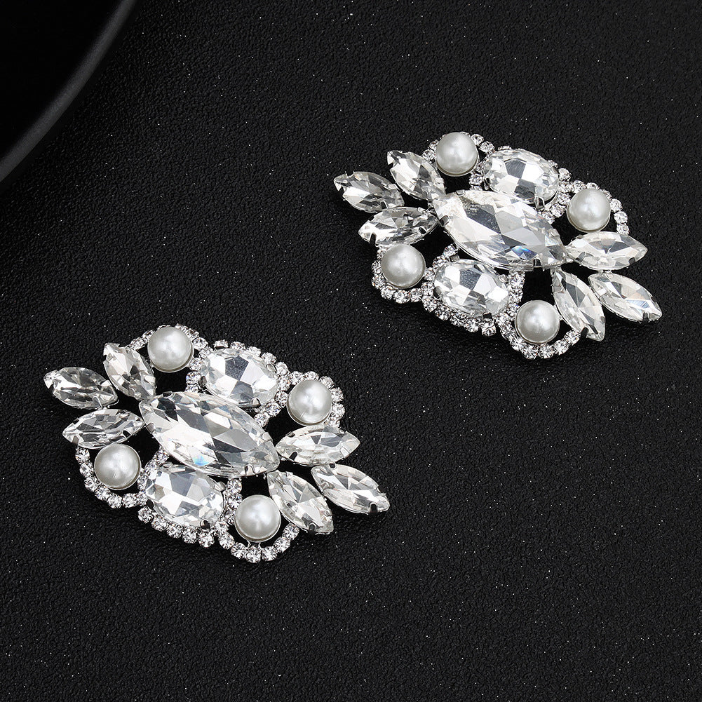 NZ Bridal 1 Pair Shoe Clip Buckle Rhinestone Pearl Decoration Wedding Shoes Buckle Bridal Jewelry