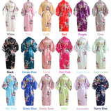 Floral Silk Bridal Party Robes Bridesmaid Robes Set 18 Colors In