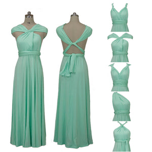 Mint Endless Way Convertible Maxi Dress 5-In-One Dress