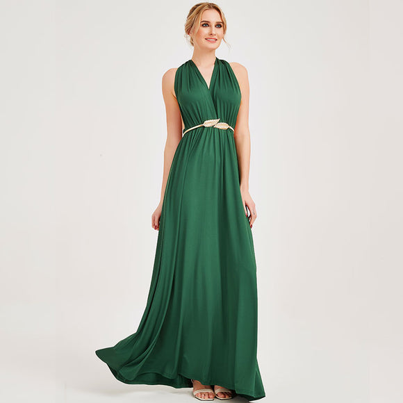 Green Endless Ways Convertible Beach Wedding Bridesmaid Dresses