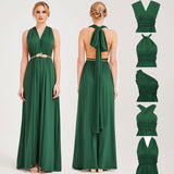 DarkGreen Gown Infinity Wrap Dresses NZ Bridal Convertible Bridesmaid Dress One Dress Endless possibilities