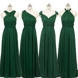 Green Infinity Convertible Beach Wedding Bridesmaid Dresses