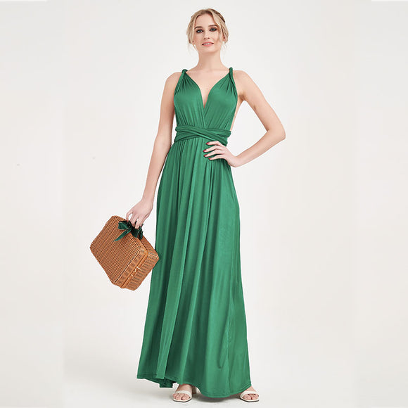 Emerald Green  Infinity Gown Ready to Ship