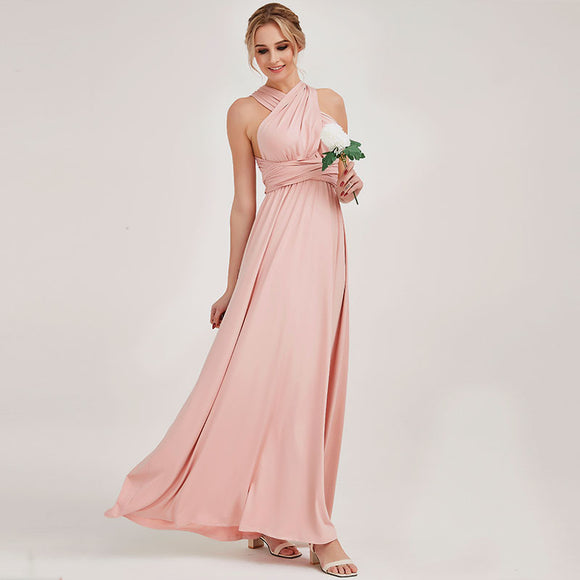Blush Infinity Wrap-around Convertible Gown