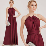 Burgundy Infinity Wrap Dresses NZ Bridal Convertible Bridesmaid Dress One Dress Endless possibilities