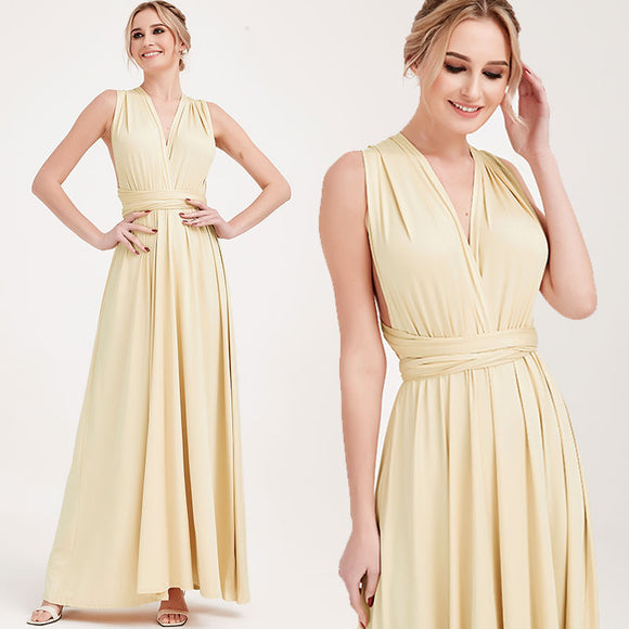 Champage Gold Infinity Wrap Dresses NZ Bridal Convertible Bridesmaid Dress One Dress Endless possibilities