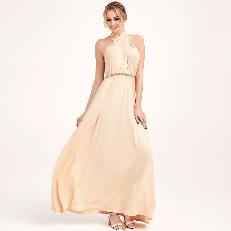 Champagne Infinity Wrap Dresses NZ Bridal Convertible Bridesmaid Dress One Dress Endless possibilities