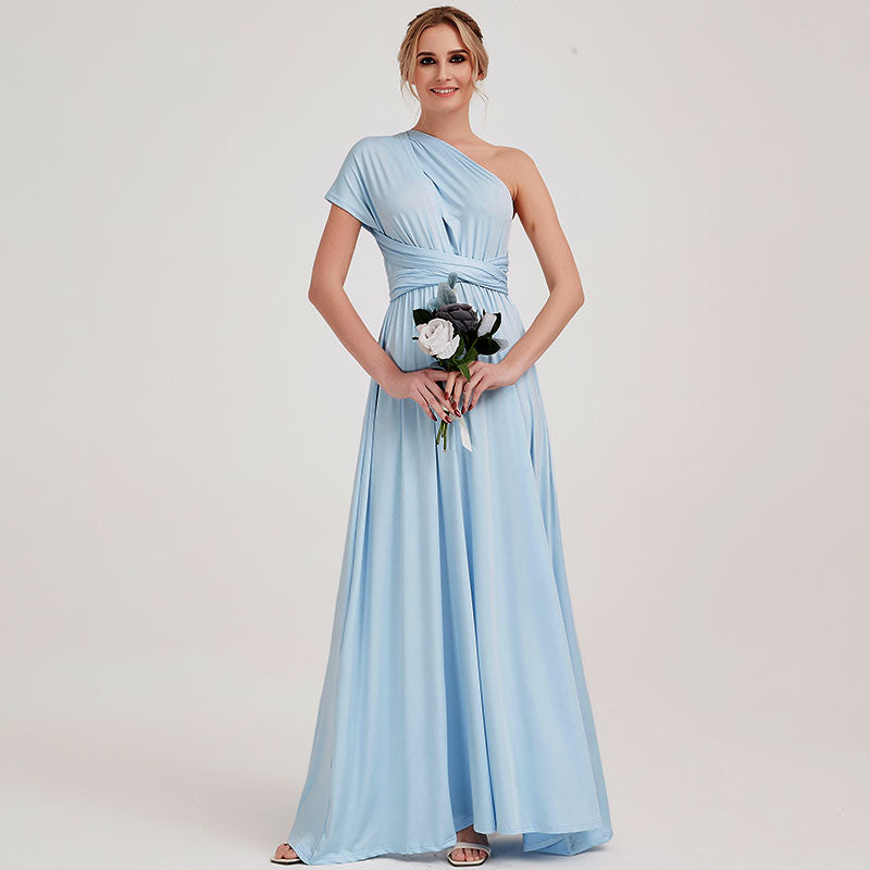 Cornflower Blue Infinity Wrap Convertible Beach Wedding Bridesmaid Dresses