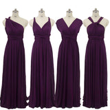 Dark Purple Infinity Wrap Dresses NZ Bridal Convertible Bridesmaid Dress One Dress Endless possibilities