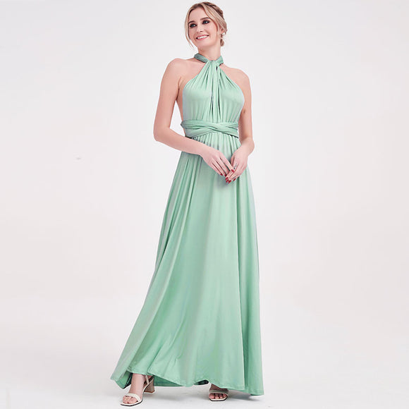 Dusty Green Endless Ways Convertible Beach Wedding Bridesmaid Dresses