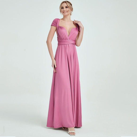 Dusty Rose Infinity Wrap Convertible Beach Wedding Bridesmaid Dresses