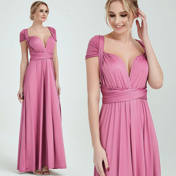 Dusty Rose Endless Multiway Convertible Beach Wedding Bridesmaid Dresses
