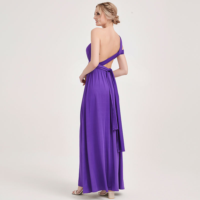 Grape  Wrap-around Convertible Beach Wedding Bridesmaid Dresses