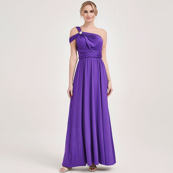 Royal Purple Endless Ways Convertible Grape Beach Wedding Bridesmaid Dresses
